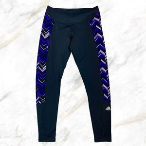 Adidas | Purple Detail Black Climawarm Leggings
